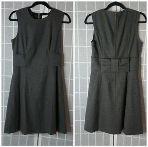 [Kate Spade] Grey Wool Dress with Bow